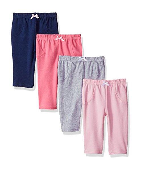 0d1e2e2c8 Luvable Friends Baby Cotton Pants - 4 Pack